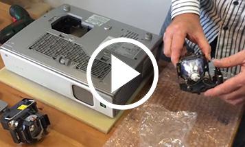 Anleitungsvideo: Lampenwechsel Sony